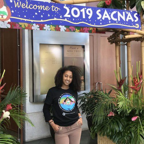 Alayt Issak at SACNAS 2019