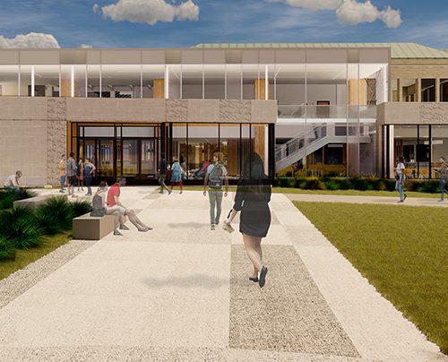 New Student Center Entrance