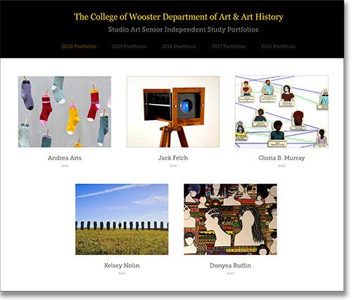 Studio Art Senior Independent Study Portfolios
