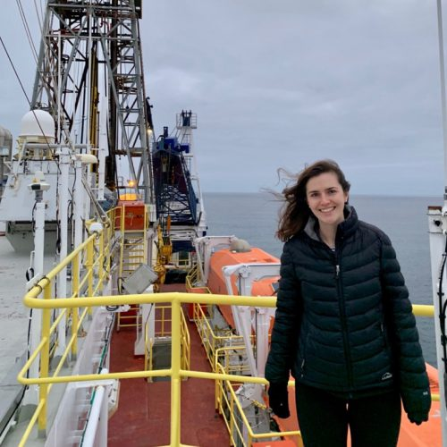 Sarah McGrath '17 conducting research off the coast of Chile in summer 2019