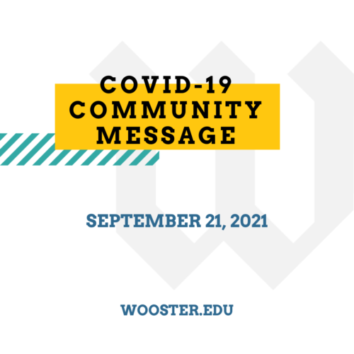 Community Message graphic for 9-21