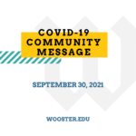 """graphic that says """"COVID-19 Community Message"""""""