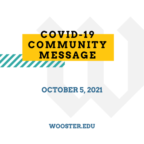 graphic for the october 5, 2021 covid-19 community message at The College of Wooster