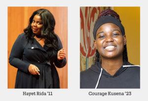 headshots of courage kusena and hayet rida